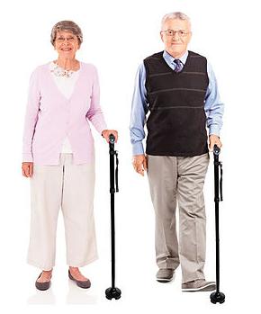 anziani che usano il bastone mq perfect by maniquick
